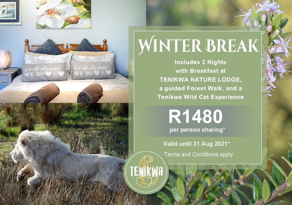 Affordable Winter Break Special at Tenikwa Nature Lodge